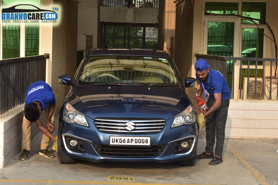 Doorstep daily dry car wash & car cleaning service in Greater Noida